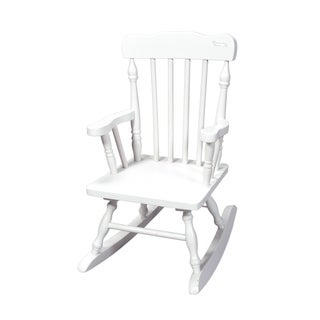 Gift Mark Home Children White Spindle Rocking Chair