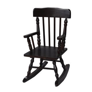 Gift Mark Home Kids Resting Colonial Espresso Rocking Chair
