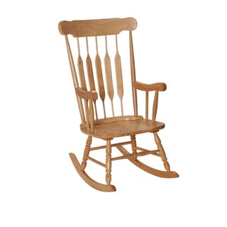 Gift Mark Home Adult Resting Natural Finish Rocking Chair