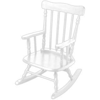 Gift Mark Home Kids White Rocking Chair