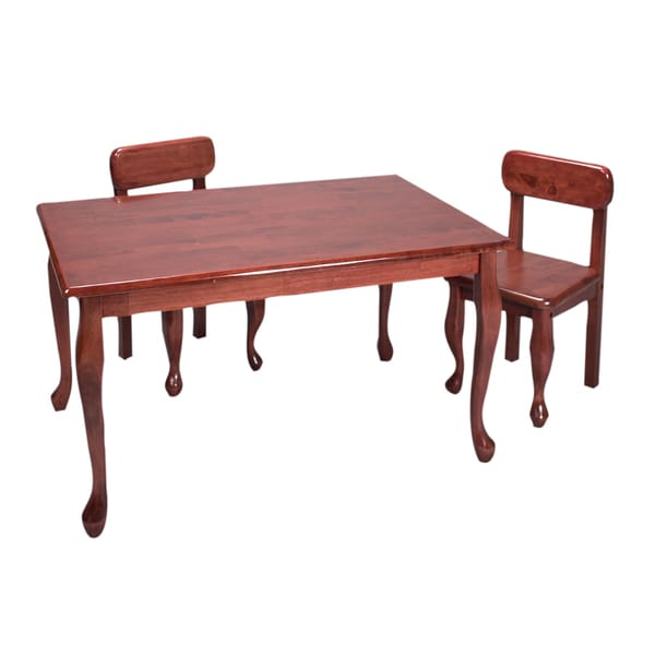 Gift Mark Home Kids Natural Hardwood Rectangle Cherry Table and Chair Set 13723041