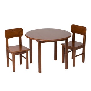 Gift Mark Natural Hardwood Round Cherry Table and Chair Set