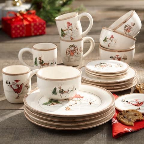 American Atelier Christmas 20-piece Dinner Set