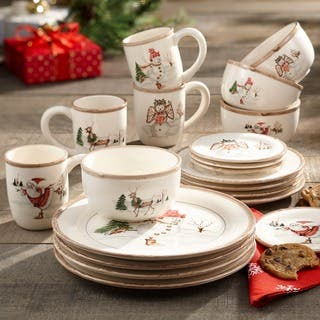 American Atelier Christmas 20-piece Dinner Set
