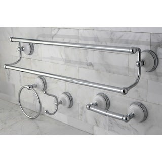 Victorian 4-piece Polished Chrome Bathroom Accessory Set