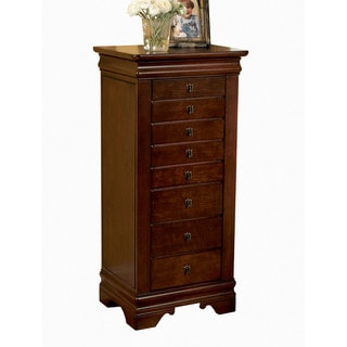 Powell Serena Marquis Cherry Jewelry Armoire