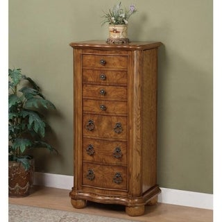 Powell Pamlico Jewelry Armoire - Oak