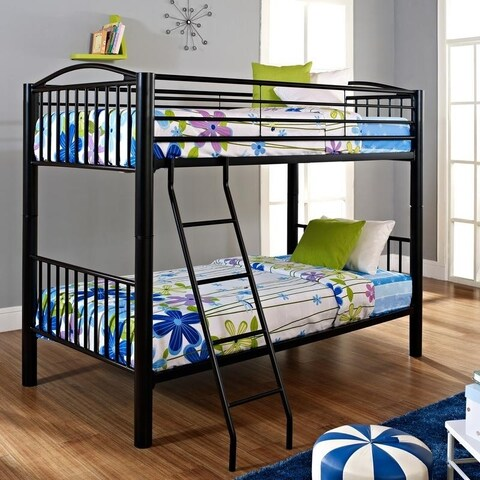 Powell Onyx Heavy Metal Twin Bunk Bed
