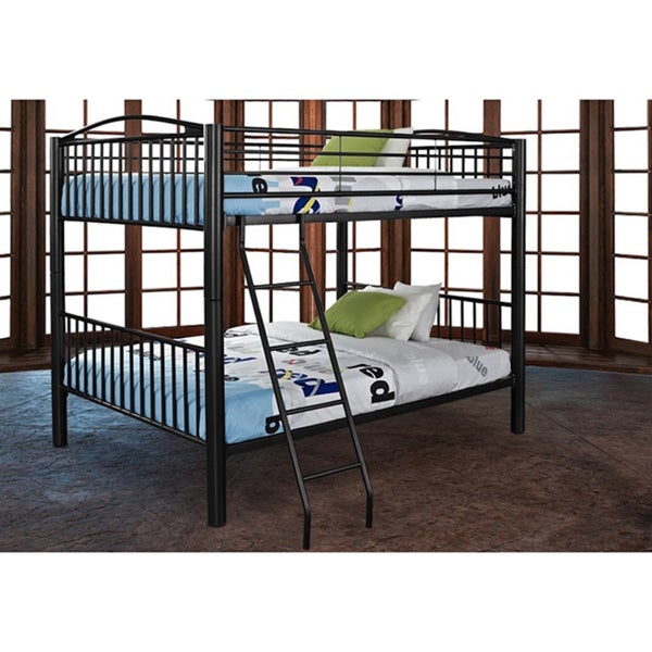 Shop Powell Onyx Heavy Metal Full Over Full Bunk Bed