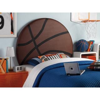 Powell Upholstered Basketball Twin Headboard