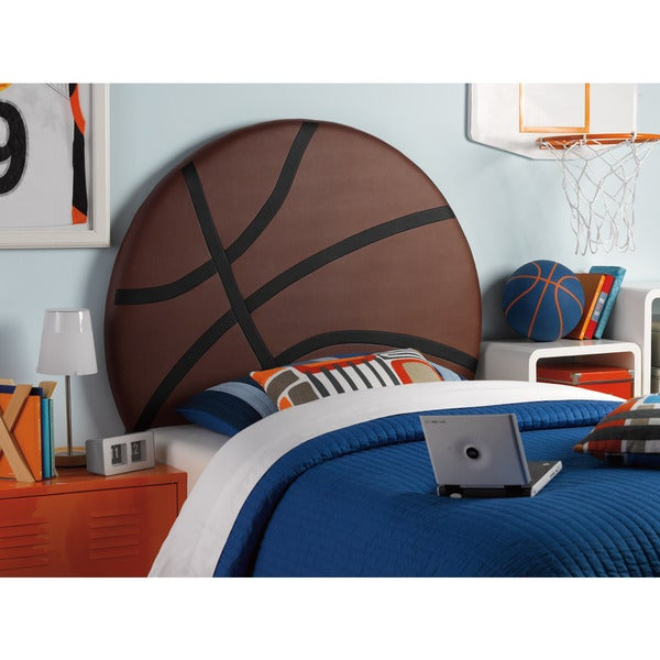 Powell White Twin Bedroom In A Box: Shop Powell Upholstered Basketball Twin Headboard