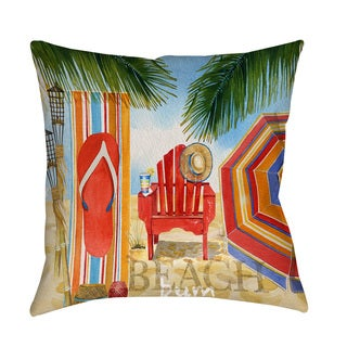 Thumbprintz Beach Medley Throw/ Floor Pillow