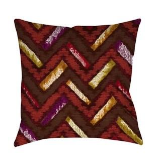 Thumbprintz Chevron Ikat Spice Throw/ Floor Pillow