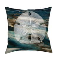 Coastal Span II Throw/ Floor Pillow