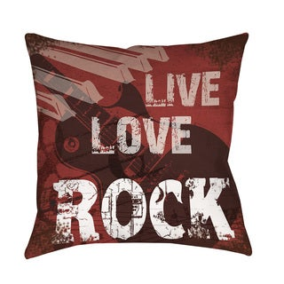 Thumbprintz Live Love Rock Throw/ Floor Pillow