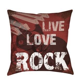 Live Love Rock Throw/ Floor Pillow