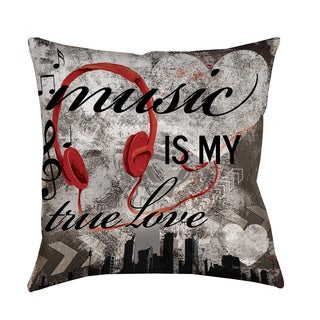 Thumbprintz Music is My True Love Throw/ Floor Pillow