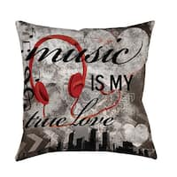 Music is My True Love Throw/ Floor Pillow
