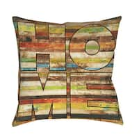 Striped Home Throw/ Floor Pillow