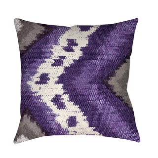 Thumbprintz Tribal Ikat Plum Throw/ Floor Pillow