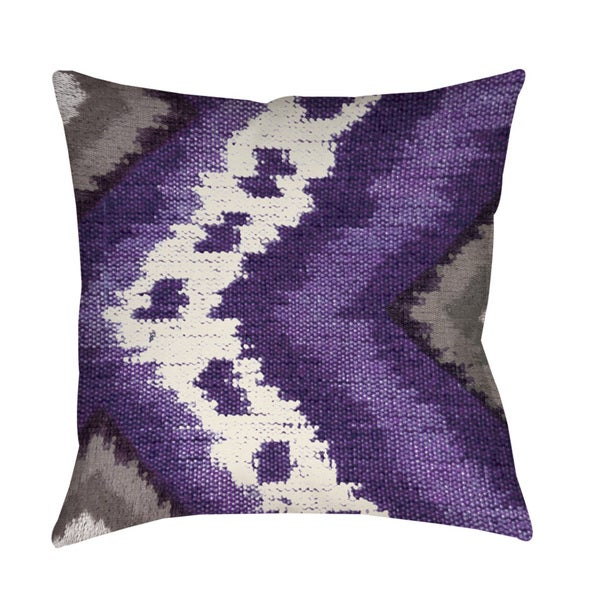 Tribal Ikat Plum Throw/ Floor Pillow