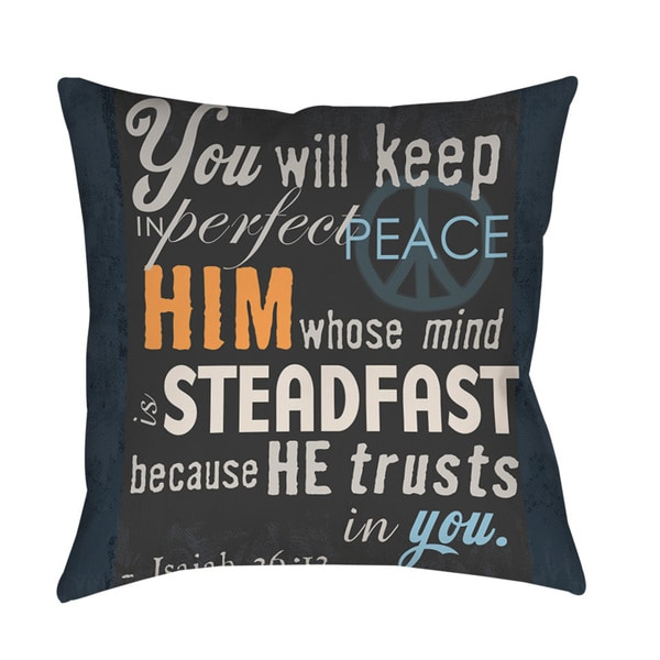 In Perfect Peace Throw/ Floor Pillow