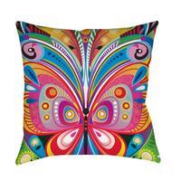 Pattern Butterfly Throw/ Floor Pillow