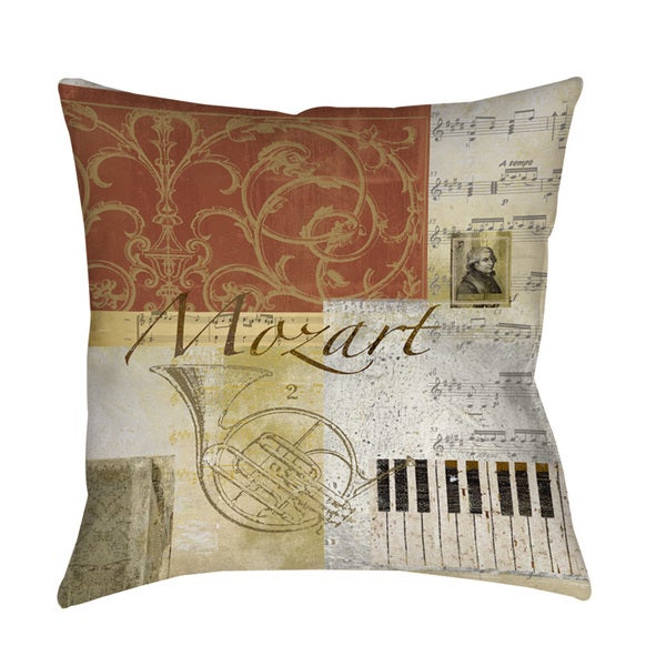 Classic Composers Mozart Throw/ Floor Pillow