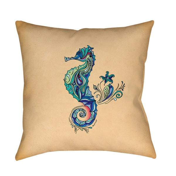 Seahorse Throw/ Floor Pillow