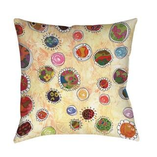 Thumbprintz Funky Flowers Throw/ Floor Pillow
