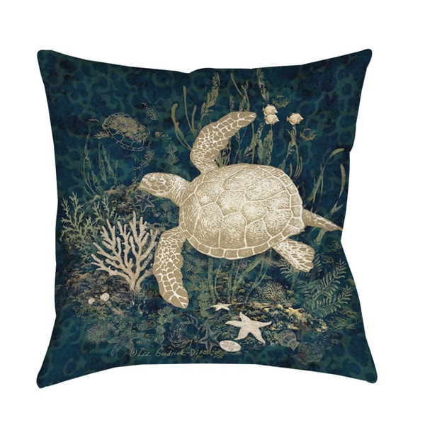 Shop Sea Turtle Vignette Or Floor Pillow On Sale Free