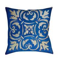 Blue Mosaic Throw/ Floor Pillow