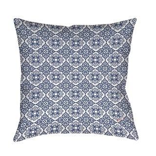 Thumbprintz Winter Garden Baroque Navy on White Floor Pillow