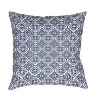 Winter Garden Baroque Navy on White Floor Pillow