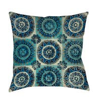 Floral Tile Suzani Floor Pillow