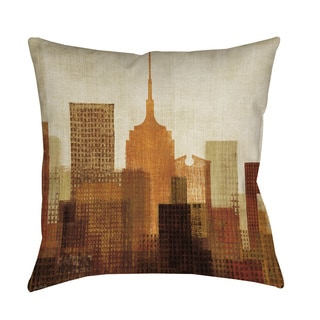 Thumbprintz Summer in the City I Blue Floor Pillow