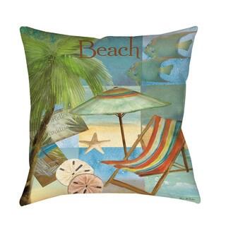Beach Memories B Throw/ Floor Pillow