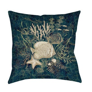 Thumbprintz Fish Vignette Throw/ Floor Pillow