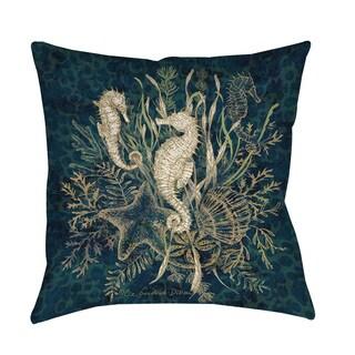 Sea Horse Vignette Blue Throw/Floor Pillow