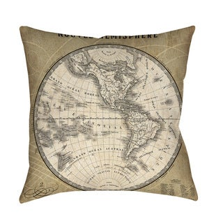 Thumbprintz French World Map III Throw Pillow or Floor Pillow