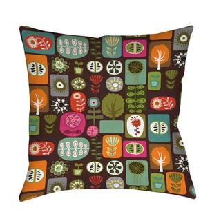 Thumbprintz Trees and Flowers Floor Pillow