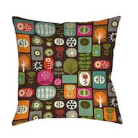 Trees and Flowers Floor Pillow