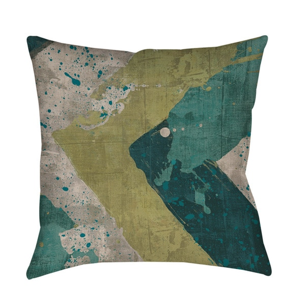 Green Splatter Floor Pillow