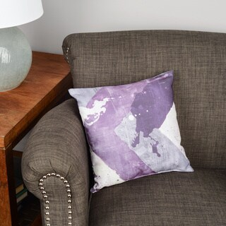 Splatter No I Purple Floor Pillow