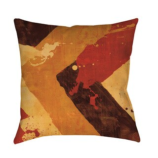 Splatter Number I Red Floor Pillow