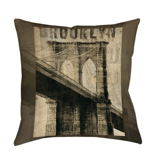 Thumbprintz Vintage NY Brooklyn Floor Pillow