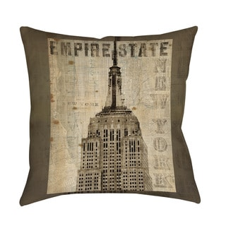 Thumbprintz Vintage NY Empire State Floor Pillow
