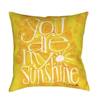 You Are My Sunshine Yellow Floor Pillow