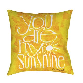 You Are My Sunshine Yellow Floor Pillow (5 options available)