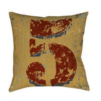 Vintage Numbers V Throw Pillow or Floor Pillow